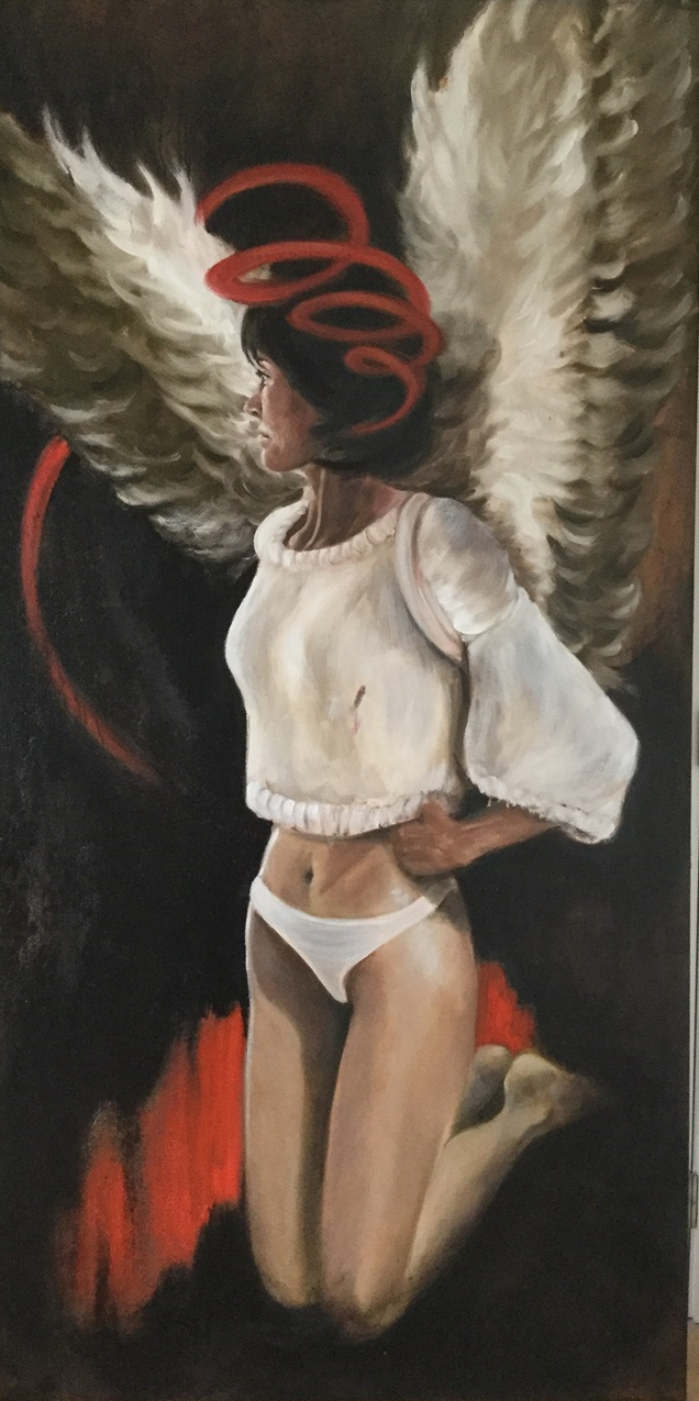 If I could fly - 100x200 - Oil on canvas