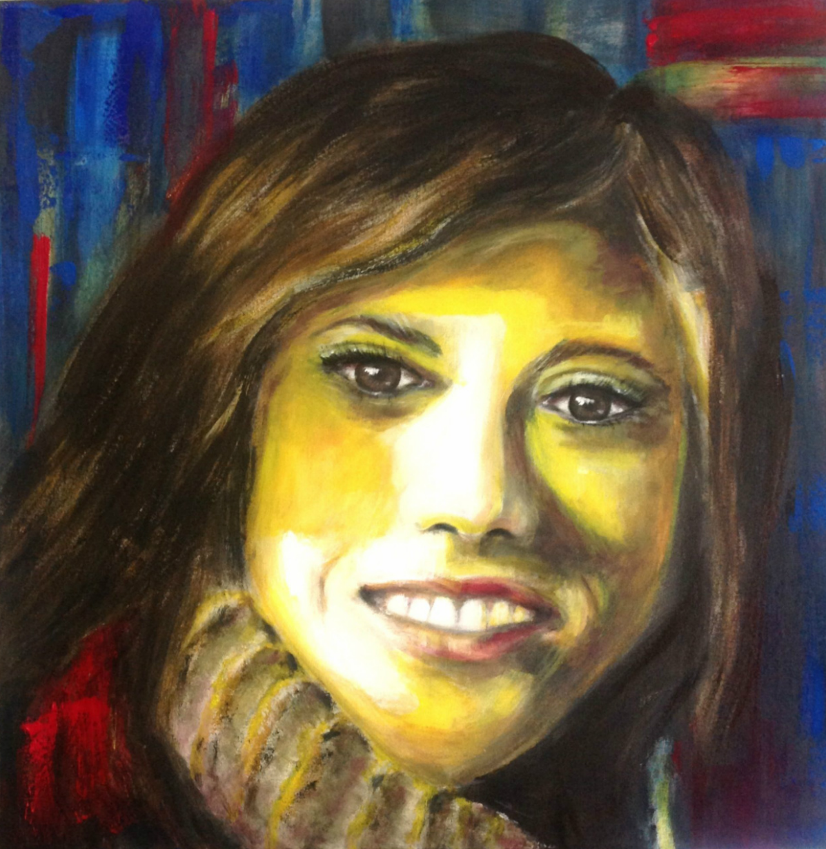 Chloë - 100x100 - Acryl on canvas