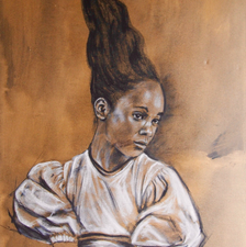 Ebony - 60x120 - Oil and charcoal on canvas