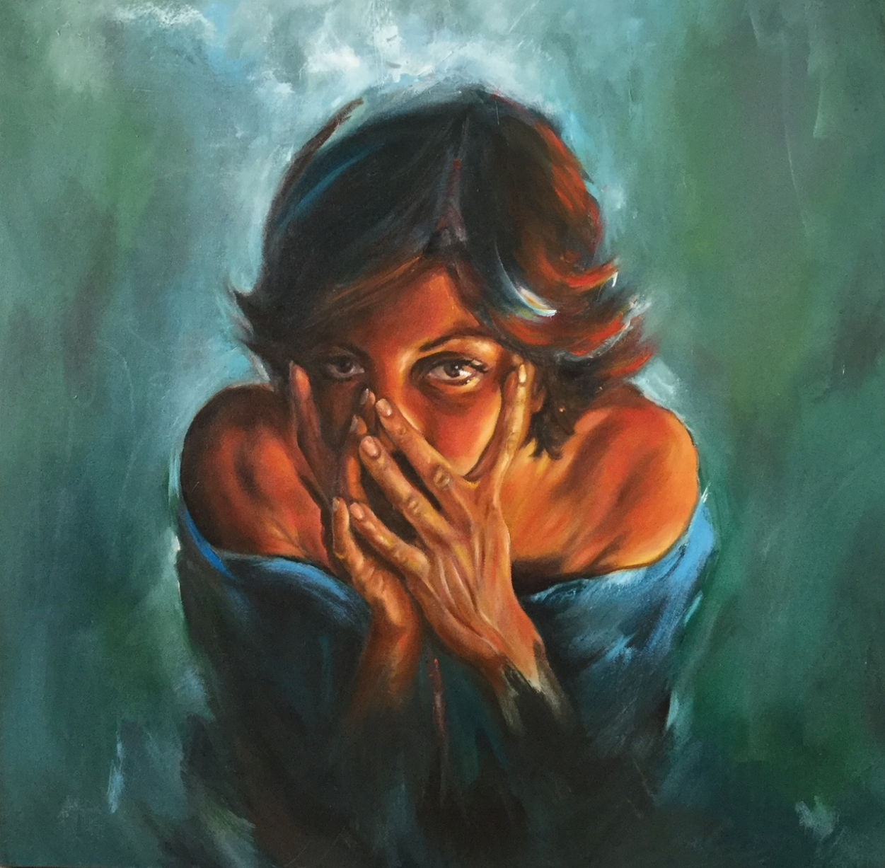 Me, myself and I 2 - 80x80 - Oil on canvas