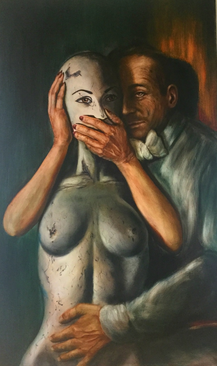Misterious love - 90x150 - Oil on canvas