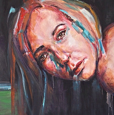 Something to tell - 150x50 - Oil on canvas